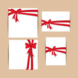 Cards  bows Stock Images