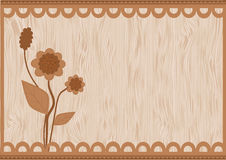 Cards brown flowers Stock Photo