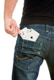 Cards cheater Stock Photography