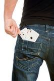 cards cheateren Arkivbild
