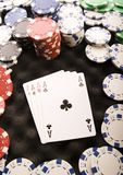 Cards & Chips. Casino - a place where you can win or lose money Royalty Free Stock Images