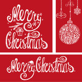 cards christmas drawing modeling plasticine Γράφοντας στοιχεία τυπογραφίας Κόκκινος Στοκ φωτογραφία με δικαίωμα ελεύθερης χρήσης