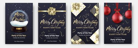 cards christmas drawing modeling plasticine Σχεδιαγράμματα σχεδίου για τα εύθυμα Χριστούγεννα Αφίσες με τη σφαίρα χιονιού, τα δώρ ελεύθερη απεικόνιση δικαιώματος