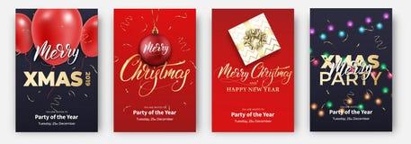 cards christmas drawing modeling plasticine Σχεδιαγράμματα σχεδίου για τα εύθυμα Χριστούγεννα Αφίσες με τα μπαλόνια, τη σφαίρα, τ διανυσματική απεικόνιση