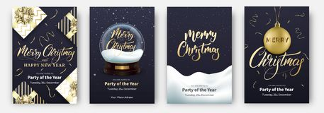 cards christmas drawing modeling plasticine Σχεδιαγράμματα σχεδίου για τα εύθυμα Χριστούγεννα Αφίσες με τη σφαίρα χιονιού, τα δώρ διανυσματική απεικόνιση
