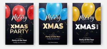 cards christmas drawing modeling plasticine Σχεδιαγράμματα σχεδίου για τη Χαρούμενα Χριστούγεννα Αφίσες με τα ζωηρόχρωμο μπαλόνια απεικόνιση αποθεμάτων