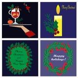 cards christmas drawing modeling plasticine Στοκ Εικόνα