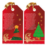 Cards for christmas Stock Image