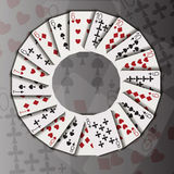 Cards in a circle Royalty Free Stock Photography