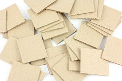 Cards. Clear cardboard card for collage and presentations and design work royalty free illustration