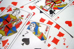 Cards close-up. Close - up of playing cards stock images
