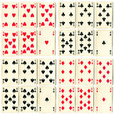 Cards collection Royalty Free Stock Photography