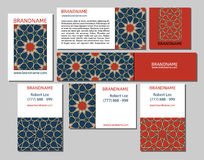 Cards collection, delicate geometric stars pattern. Vector background. Business Card or invitation. Vintage decorative elements. H Stock Photography
