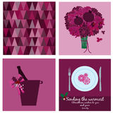 Cards collection in marsala pantone Royalty Free Stock Photos