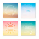 Cards collection of summer colored abstract background. Vector i Royalty Free Stock Image