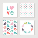 Cards collection for valentines day, birthday, save the date inv Royalty Free Stock Photos