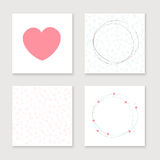Cards collection for valentines day, birthday Royalty Free Stock Photography
