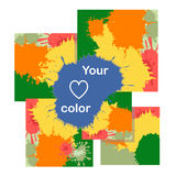 cards with color blots. Royalty Free Stock Images