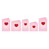 cards dagvalentiner stock illustrationer