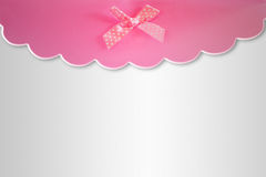 Cards decoration with pink ribbon Stock Images
