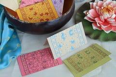 cards den eleganta anmärkningen Royaltyfri Foto