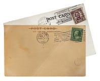 cards den gammala stolpen Royaltyfri Fotografi