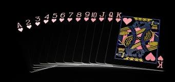 cards den leka dräkten för hjärta Royaltyfria Bilder