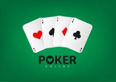 cards den leka poker Royaltyfri Fotografi