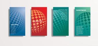Cards den retro sfären royaltyfri illustrationer