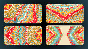 Cards Design Ethnic Pattern Set Royalty Free Stock Images