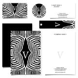 Cards design set in  format. With black and white pattern Royalty Free Stock Image