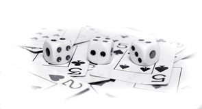 Cards and Dices Royalty Free Stock Photo