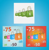 Cards on discounts. Royalty Free Stock Photography