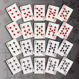 Cards in dispersion Stock Photo