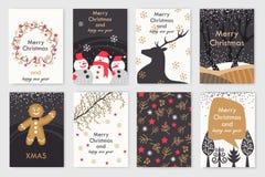 cards färgrik jul vektor illustrationer