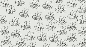 Cards or fabrics with repeating motif pattern one to the, drawing stroke,of a Firefly. Cards or fabrics with repeating motif pattern one to the drawing stroke Stock Photography