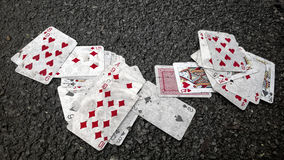 And the cards fell Royalty Free Stock Photo