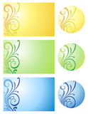 Cards with floral design. Stock Images