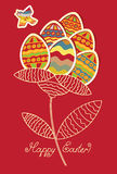 Cards with flower of Easter Stock Image