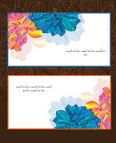 Cards with flowers pattern Stock Image