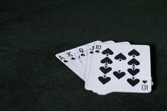 Cards - Flush. A Royal Flush in spades Stock Images