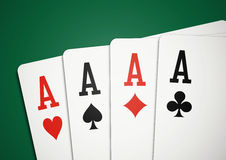 Cards - four aces Stock Image