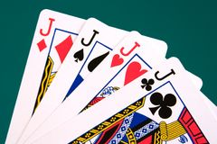 Cards four cards 04 jacks.  Stock Photo