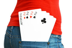 5 cards Stock Photography