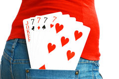 5 cards Royalty Free Stock Images