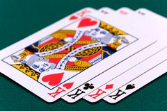 Cards four or two card 02 kings.  Royalty Free Stock Photography