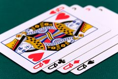 Cards four or two card 03 queens Royalty Free Stock Image