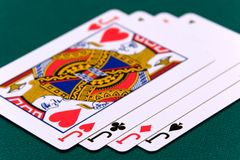 Cards four or two card 04 jacks.  Royalty Free Stock Photo