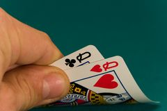 Cards four or two card 08 queens Stock Images