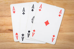 Cards Game Ace poker red Stock Images